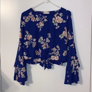 Flower blouse from Altard State. Bell Sleeves
